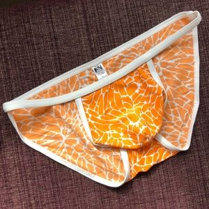 String Brief Swimsuit - Orange Mosaic